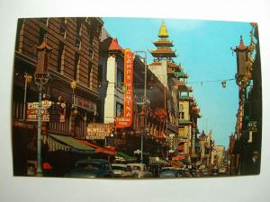 1940s Lamps Of China Restaurant San Francisco CA Grant Ave Unused Postcard y8121