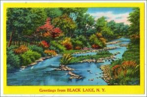 Greetings Black Lake NY