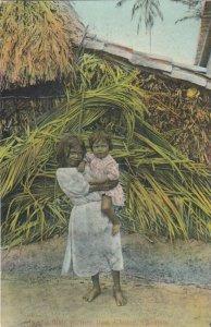 Chame , PANAMA, 1900-10s ; 2 kids