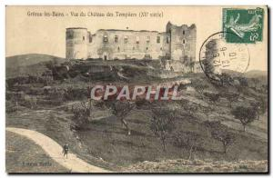 Old Postcard Greoux les Bains View of Chateau Templar