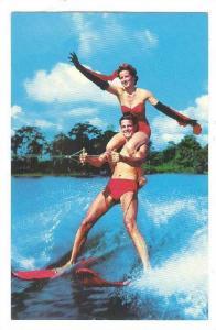 Water-Skiing: Water Ki-Champions , Cypress Gardens , Florida , 40-60s