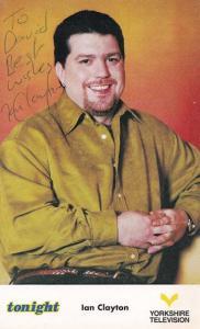 Ian Clayton Author 1980s Yorkshire TV Tonight Show Hand Signed Photo