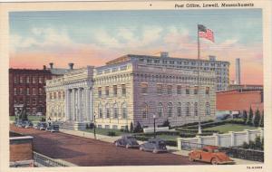 Post Office , LOWELL , Massachusetts , 1930-40s