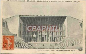 Old Postcard The Scene Orange and the Theater Antique Bleachers