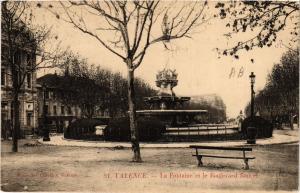 CPA VALENCE La Fontaine Monumentale et le Boulevard Bancel (404378)