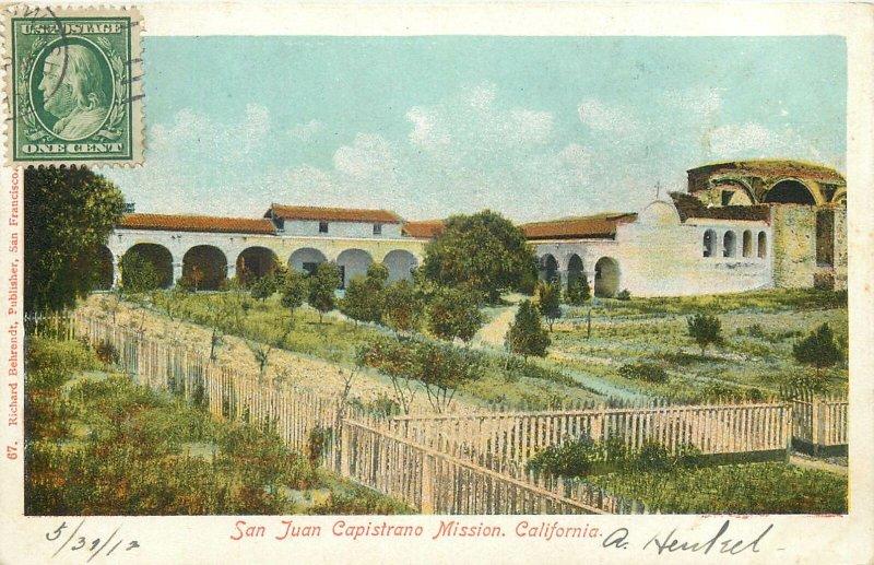 USA Postcard San Juan Capistrano Mission California