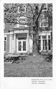 Nevada Missouri~PEO Hall Door Pillars (Philanthropic Ed Org) Cottey College 1942