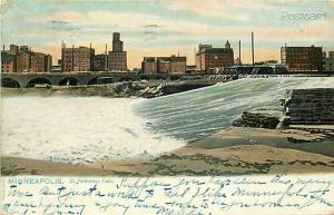 MN, Minneapolis, Minnesota, Saint Anthony Falls, Ralpheal Tuck No. 2201