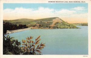 ARDMORE OKLAHOMA ARDMORE MOUNTAIN LAKE POSTCARD c1930s