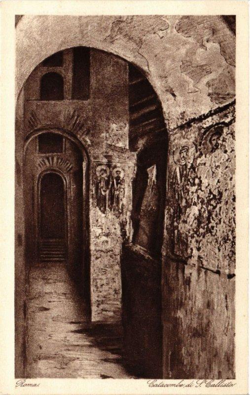 CPA ROMA Catacombe di S. Calisto. ITALY (551604)