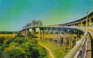Louisiana New Orleans Huey P Long Bridge 1954