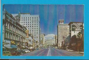 Postcard 1940's Main Steet Temple Square Salt Lake City Utah   # 212