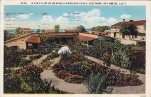 California San Diego Inner Court Of Ramonas Marriage Place Old Town 1928