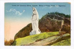Lower St. Lawrence River, Canada, Statue Of Notre Dame Du Saguenay, Quebec, C...