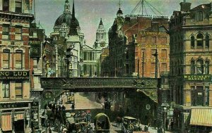 London Machinery Market Street Horse Carriage Rides Postcard