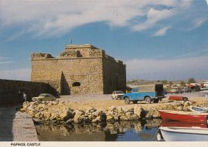 Cyprus Paphos mediaeval castle postcard