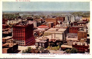 Minnesota Minneapolis Birds Eye View West Of Fourth Street