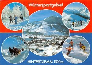 Wintersportgebiet Hinterglemm, Skiers Winter Horse Sledge General view Mountain