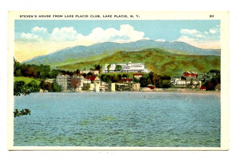 NY - Lake Placid. Steven's House Across Mirror Lake from Lake Placid Club