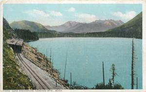 Lake Keechelus Washington~Railroad Tracks~Tunnel~Cascade Mtns~Detroit Pub Co