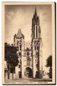 Old Postcard Senlis Oise Cathedrale XIIs West Portal