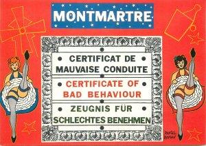Postcard cpsm France Paris Montmartre cabaret