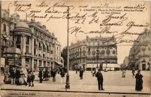 CPA ANGERS - Place du Raliement Hotel des Postes - La Rue d'Alsace (296712)