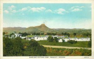 Dan-Dee Cottage Camp Prescott Arizona roadside 1930s Postcard Teich 3747