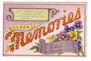 Golden 'Memories' Made from Flowers, Pansies, AA 638-3, Crossburn Nova Scotia...