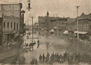 C.1904 Saginaw's Greatest Flood, Genesee Avenue Postcard F70