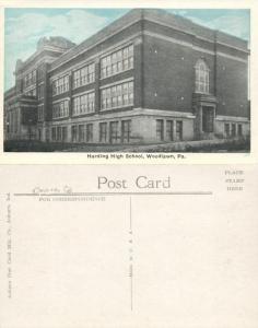 WOODLAWN PA HARDING HIGH SCHOOL ANTIQUE POSTCARD