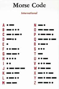 Morse Code Alphabet Modern Postcard