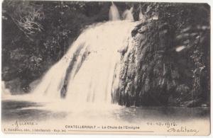 France, CHATELLERAULT, La Chute de l'Envigne, 1915 used Postcard CPA