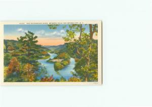 Vintage Post Card N-523 Tuckaseigee River Sylva Bryson City  N C  # 3642