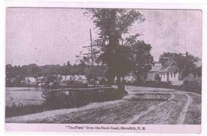 The Flats from Neck Road Meredith New Hampshire 1910c postcard