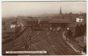 Newcastle; The Largest Railway Crossing, Central Station 9356 RP PPC, Unposted