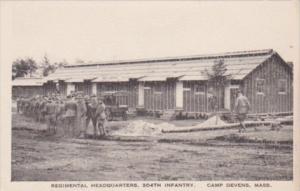 Military Regimental Headquarters 304th Infantry Camp Devens Massachusetts