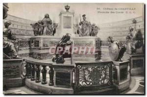 Old Postcard Chateau de Chantilly Mausoleum of Conde
