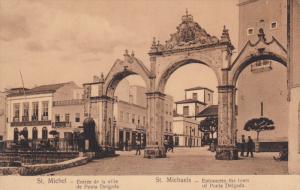 NORMANDY, France; St. Michel, Entree de la ville de Ponte Delgada, 00-10s
