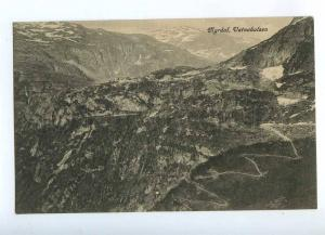 192245 NORWAY Bergen Railway Myrdal Vatnahalsen Old postcard