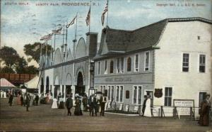 Providence RI Vanity Fair South Walk c1910 Postcard