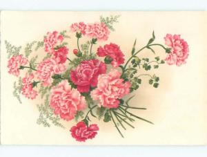 Very Old Foreign Postcard BEAUTIFUL FLOWERS SCENE AA4232