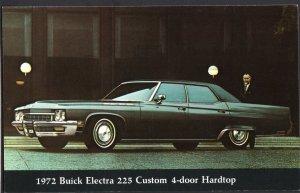 Classic Car Dealer Postcard 1972 BUICK Electra 225 Custom 4-Door Hardtop Chrome