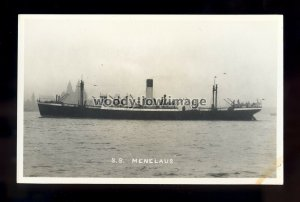 bf788 - Blue Funnel Cargo Ship - Menelaus - postcard by B Feilden