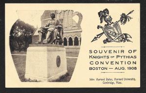 Knights of Pythias Boston MA Unused 1908