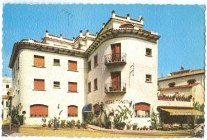 Spain, HOTEL TONET, Tossa de Mar, Costa Brava, 1960s used Postcard