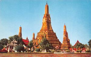 Dhonburi Thailand Looking over the Temple of Dawn across Chao Phya River fron...