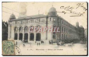 Old Postcard Marseille Hotel Post