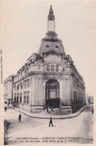 Poitier Vienna Hotel des Postes et Telegraphes Old Postcard