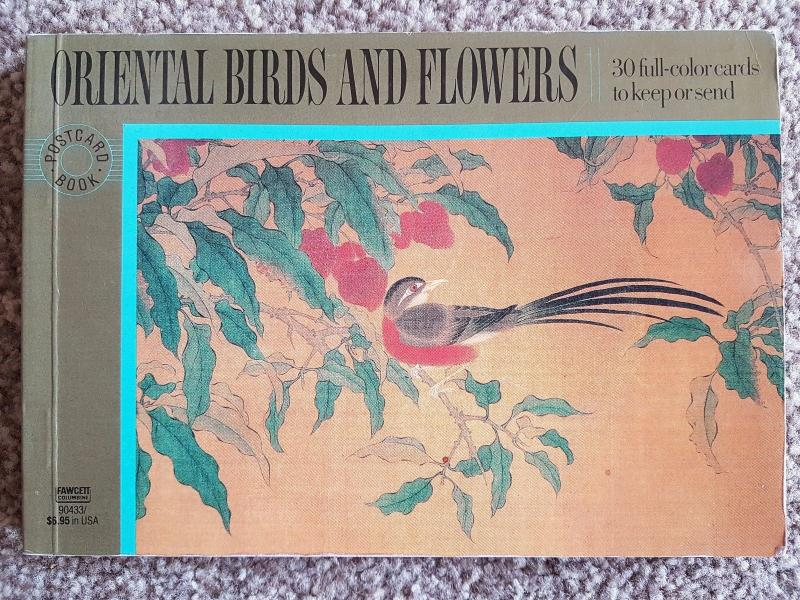 Oriental Birds and Flowers Book of 30 Full Colour Postcards
